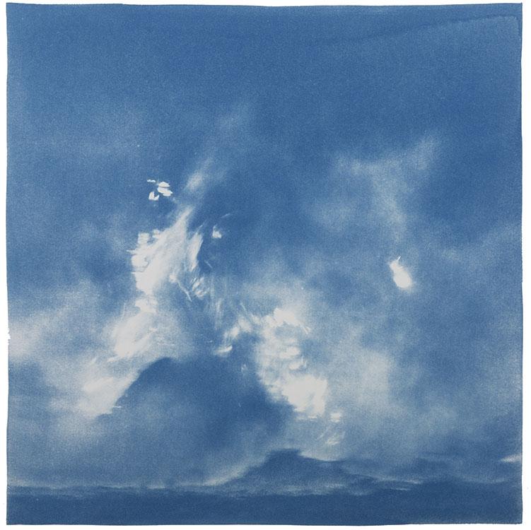 Feuerland II, 2016, Blattgröße 50 x 50 cm I Motiv 32,5 x 32 cm