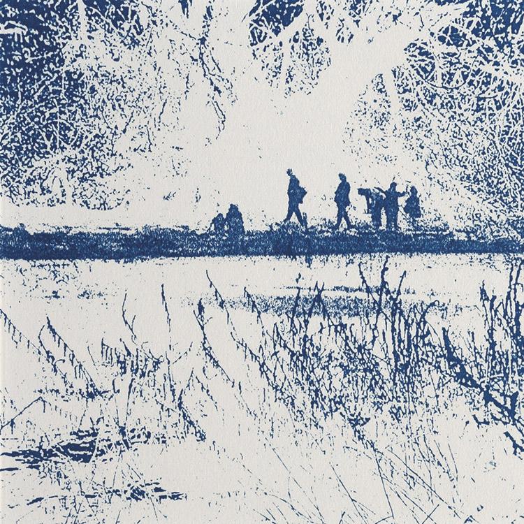 Auf der Suche nach der blauen Blume I, 2006, 14,5 x 14,5-cm